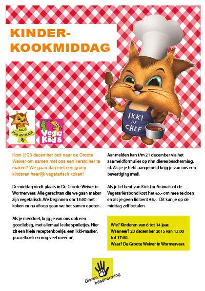 Kinderkookmiddag met Kids for Animals & Vegakids