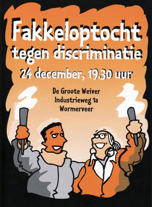 Fakkeloptocht tegen discriminatie