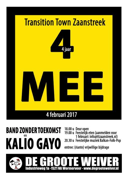 Transition Town Zaanstreek 4 jaar! 4 Mee!