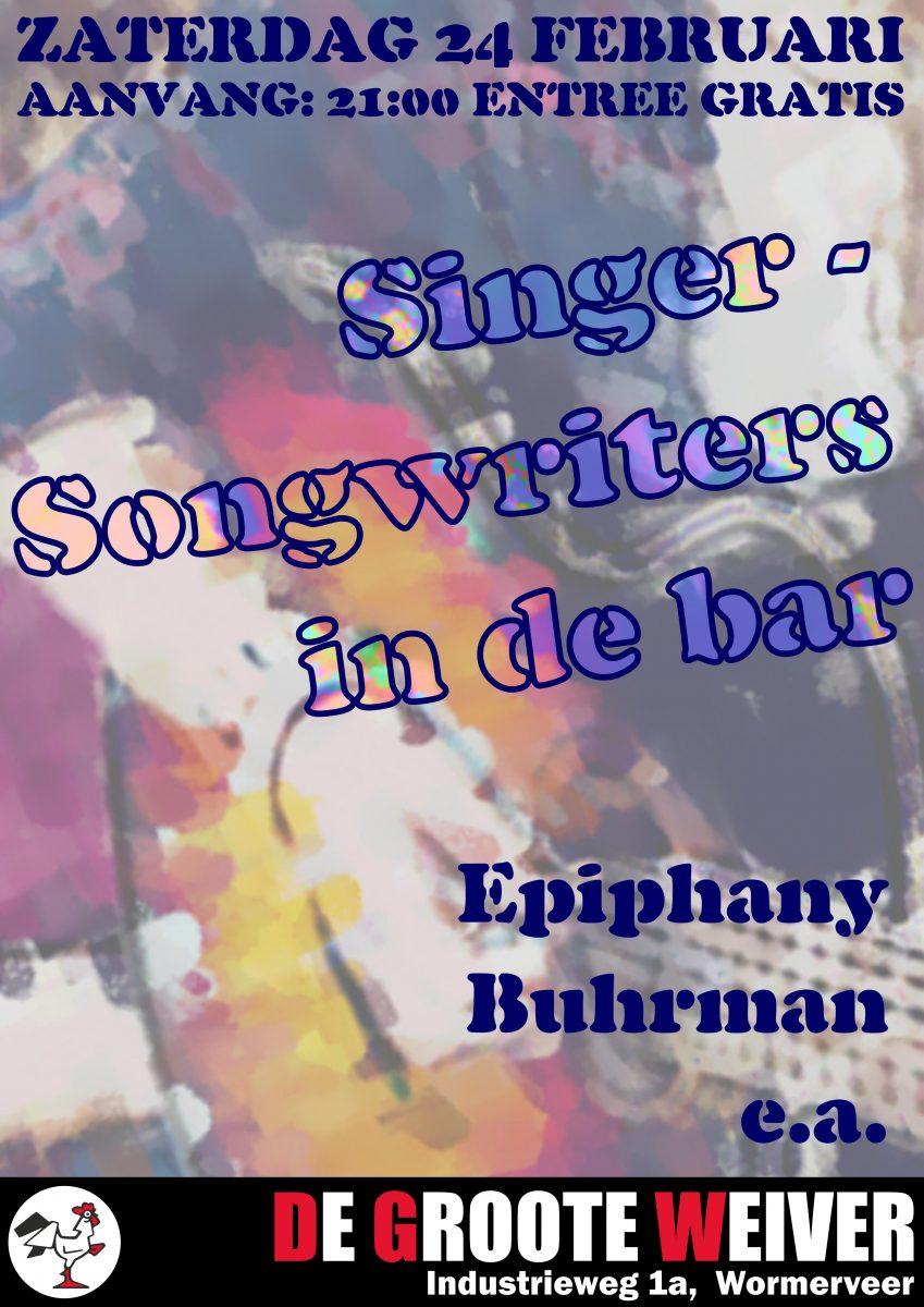 Singer-songwriter avond in de bar