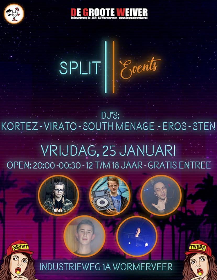 Split events presents...